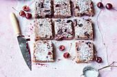 Rice cake with cherries