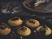 Chilli and orange cookies with pancetta for Halloween