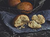 Concha bread rolls from Mexico