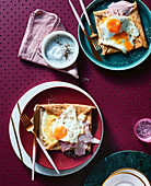 Buckwheat Gallette with egg and ham