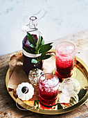 Bay leaf and hibiscus Christmas cordial