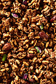 Granola with almonds and pistachio nuts