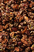 Caramelised granola with seeds and almonds