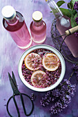 Prepare lilac syrup