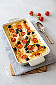 Cannelloni with ricotta and mushrooms