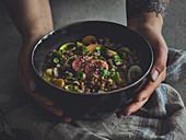 Dutch oven lentil soup