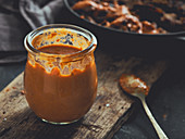 A jar of Metaxa sauce