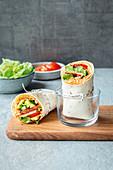 Vegetarische Halloumi-Wraps