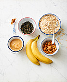 Ingredients for banana bars