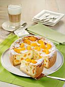 Creamy mandarine cheesecake