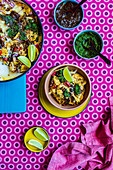 Indian Inspired Nachos with Coriander Chutney and Tamarind