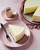 Cheesecake with lemon mousse