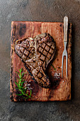 Grilled beef t-bone steak