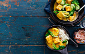 Hot And Sour Thai Fish Curry With Baby Pak Choi