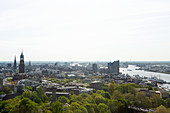A panoramic view of the city of Hamburg, Germany