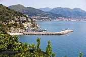 View of Cetara from the main road, Amalfi Coast, Campania, Italy