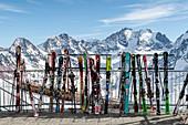 Switzerland, Engadin, Sankt Moritz: View from Corvatsch summit (3303m)