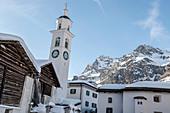 Switzerland, Engadin: Church in Sils-Maria