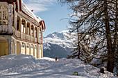 Switzerland, Grisons, Davos: Hotel Schatzalp