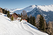 Switzerland, Grisons, Davos: Strela-Alp, Ski-hut