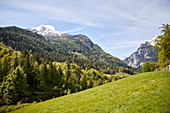 A view of the Alps near Berchtesgaden, Bavaria, Germany