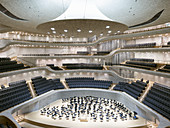 Large hall in Elbphilharmonie, Hamburg, Germany, Europe