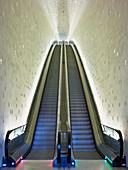 The Tube the longest escalator in western Europe, Elbphilharmonie, Hansestadt Hamburg, Germany, Europe