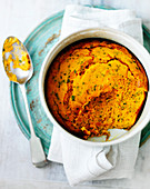Carrot souffle with herbs