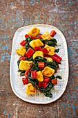 Parsnip gnocchi with chard