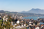 A view over Lucerne, Switzerland