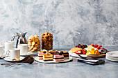 A breakfast tea time buffet