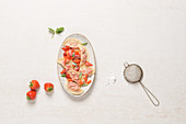 Pelmeni with strawberries