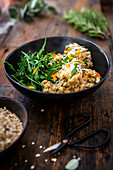 Oat risotto with rocket