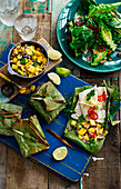 Grilled Fish In Banana Leaves
