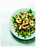 Prawn and sushi salad