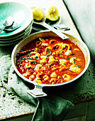 Oriental style fish and seafood stew