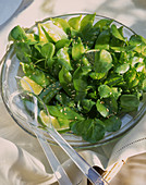 Sugar snap salad with watercress and sesame