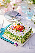 Sandwich cake with cream cheese