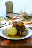 Roast pork with potato dumplings