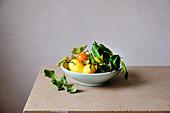 Lemons in the plate