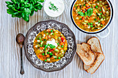 Vegetable soup a la minestrone