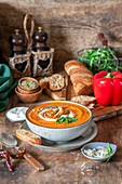 Roasted pepper cream soup
