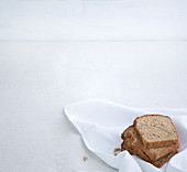 Homemade wholemeal bread with flaxseeds