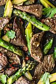 Thai beef and asparagus stir fry