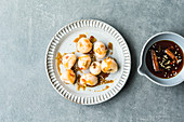 Thai lychees with chilli caramel