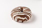 Donut with a zebra glaze