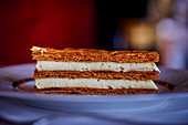 Millefeuille with gold leaf