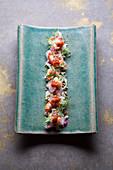 Thai salad 'Som Tom O' with red prawns and grapefruit