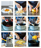 Reh-Chili mit hausgemachten Bandnudeln zubereiten