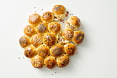 Hearty rolls with sausage meat and cheese